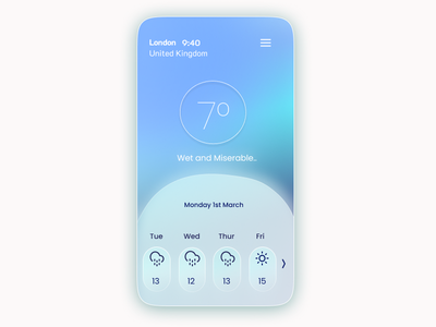 Weather App Concept - Mobile Design figma app weather