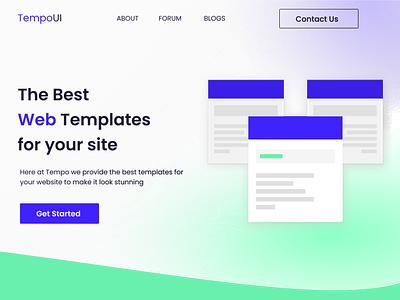 Web Templates -  Website Concept figma template website