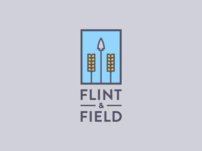Flint & Field typography type branding identity logo