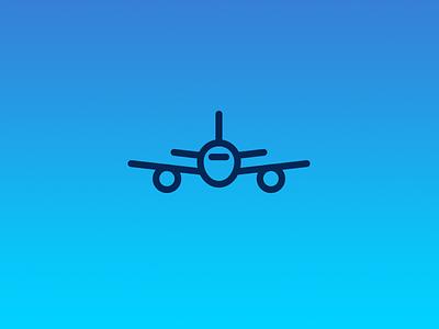 Jet icon sky flight icon plane airplane jet