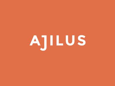 Ajilus identity wordmark logotype logo