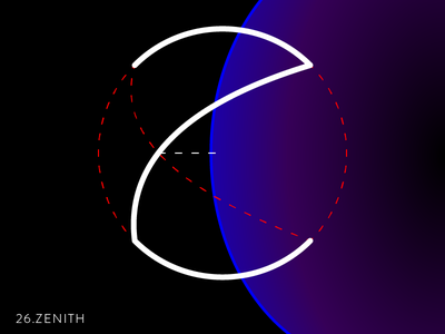 26.Zenith 36days-z 36daysoftype astronomy day26 zenith graphic text type space