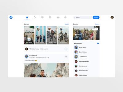 Facebook Redesign Concept - Desktop