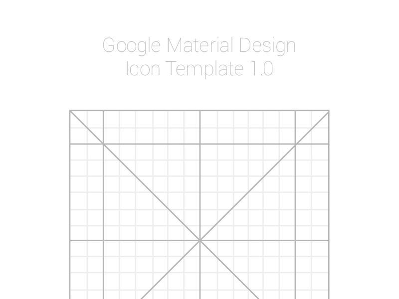 Material Design Icon Template (.AI) by Meritt Thomas - Dribbble