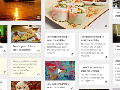 Suave Collage blog photos simple minimal flat material js code css html grid web