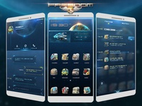 Design of UI mobile theme of freedom