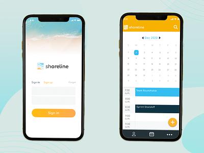 Shoreline App booking app ui design mobile app design