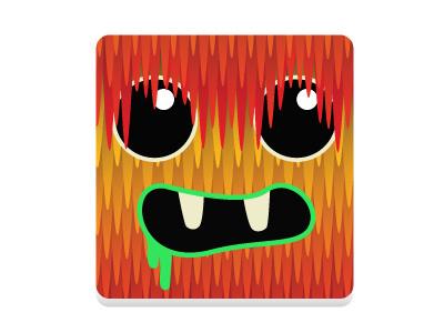 Monsta illustrator halloween square monster