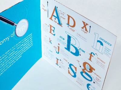 Anatomy of Type Booklet print book anatomy letters type