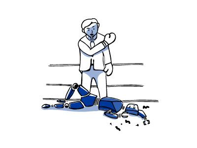 Human Advantage muhammad ali illustration boxing technology robot