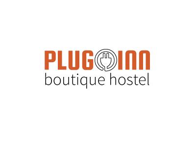 Plug-Inn Logo design flat logo minimalist branding