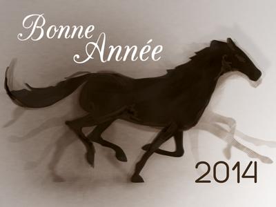 Bonne Année 2014 print illustration