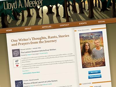 Dribble blog design