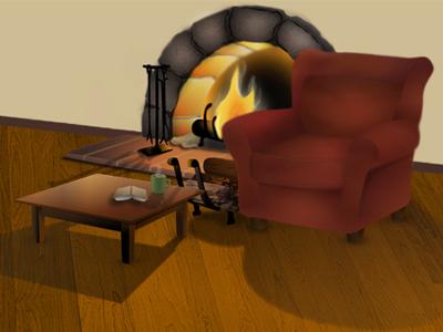 Fireside Chair chair fire