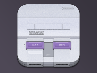 Console Icons - SNES by Andrey Grabarchuk - Dribbble