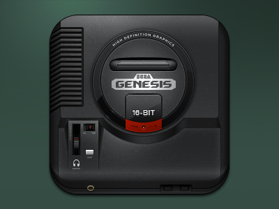 Console Icons - Sega Genesis theme genesis sega photoshop ios retro icon gaming console