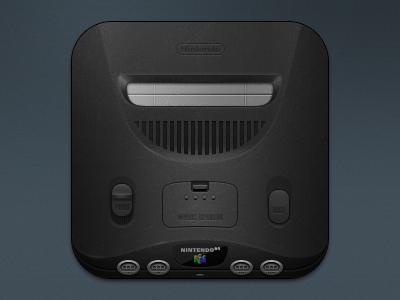 Console Icons - N64 pixel theme retro photoshop nintendo n64 ios icon gaming console