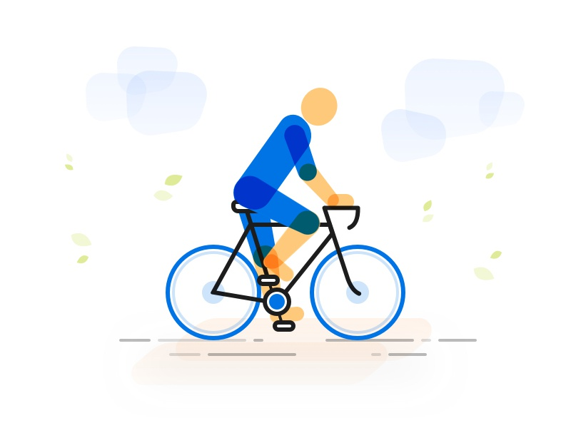 Cycle your worries away... illustration relax fitness cycling