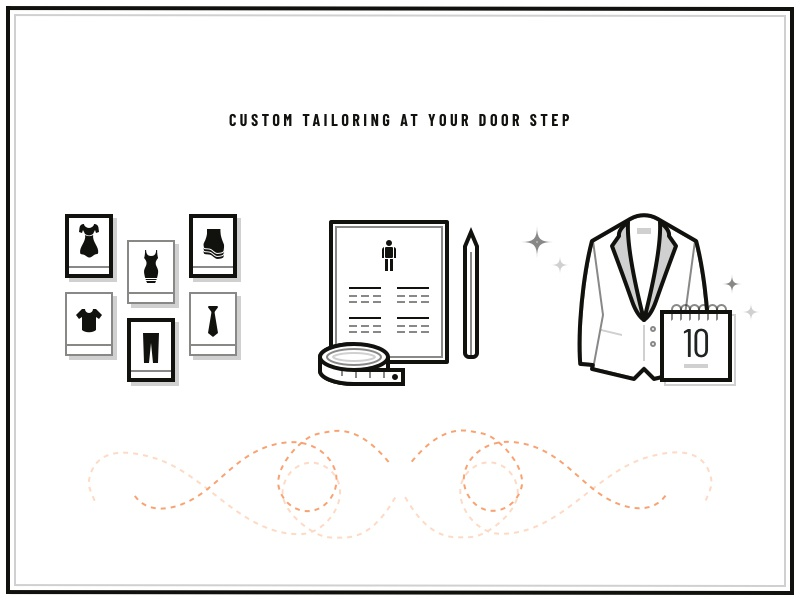 Custom tailoring icons fashion tailoring icons