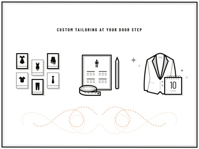 Custom tailoring icons