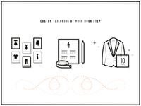 Custom tailoring icons