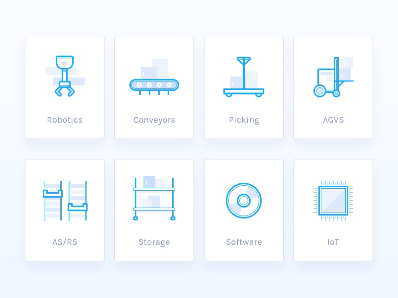 Warehouse and Storage Icons icons storage warehouse