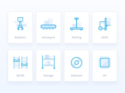 Warehouse and Storage Icons