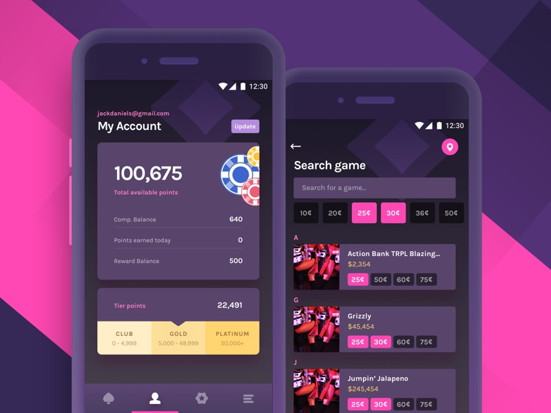 Show me the money! chips ui search account casino