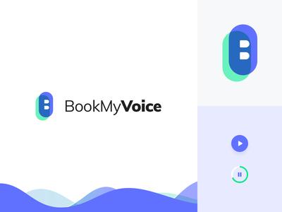 Book my Voice logo design