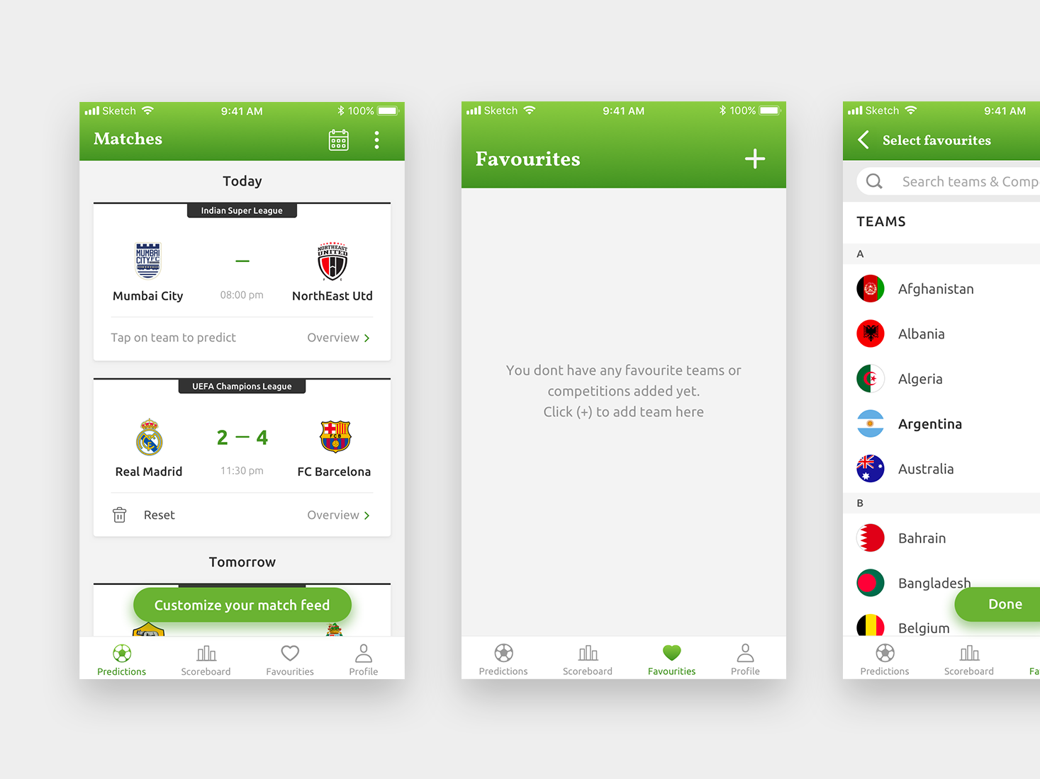 Football Prediction App by Walter Cardoz on Dribbble