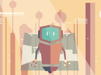 Robot robot high tech technology future