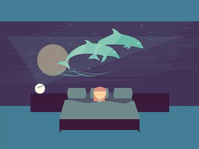 Zoe high-tech dream technology future little girl bed bedroom dolphin