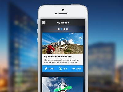 WebTV Template video webtv tv application player