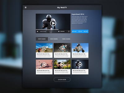 Desktop WebTV Template webtv video tv sport