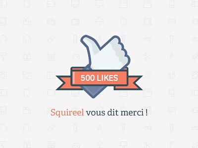 Squireel Facebook Like squireel facebook like achievement pattern ribbon thank you