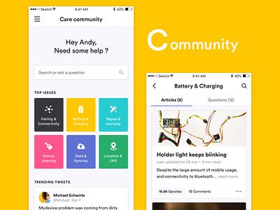 Community feed article help forum community ui