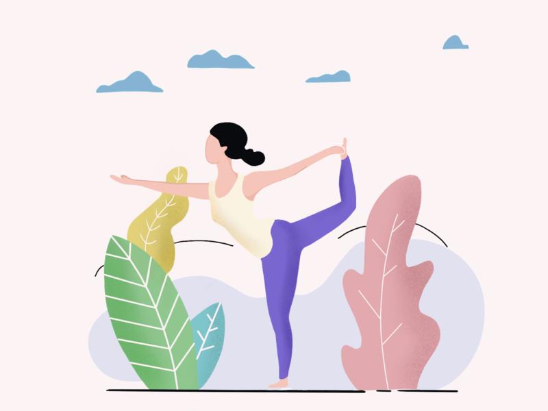 Yoga fitness healthy yoga illustration