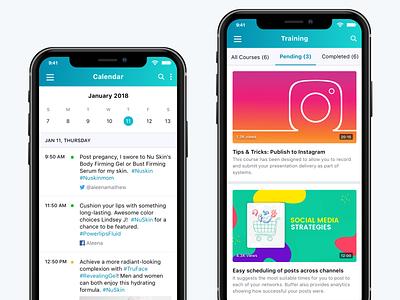 My Social learning calendar mobile app