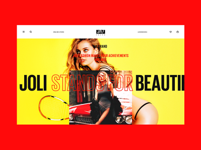 Joli. The About Page web ux ui sport shopping shop scroll lookbook gallery fashion ecommerce