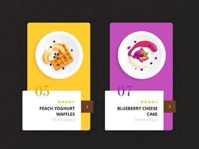 Recipe App 2 recipe app app design flat illustration food mobile app cooking breakfast recipe
