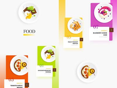 Recipe App food app recipe app app design flat illustration food mobile app cooking breakfast recipe