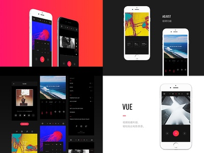 VUE for iOS movie video store launch interface mobile design app ios vue