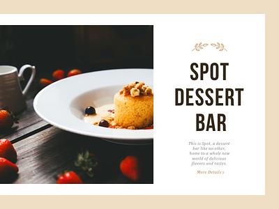 Spot texture layout interface bar cake food dessert web website