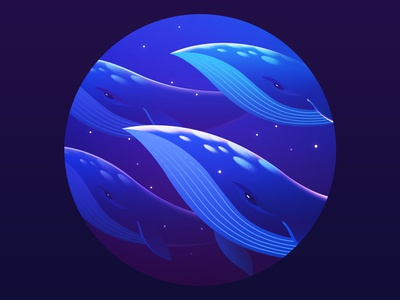Whale  underwater fish peace ocean blue sea illustration whale