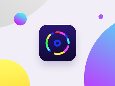 icon eye camera video colorful color gradient icon