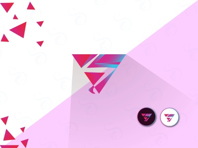 Creative V logo creative logo design symbolic symbol modern logo design iconic logo icon gradient simple design minimal logo brand branding beautiful creative