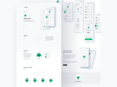 Colin - Behance Case Study case study profile team ui speech recognition presales design sprint chatbot chat assistant app design