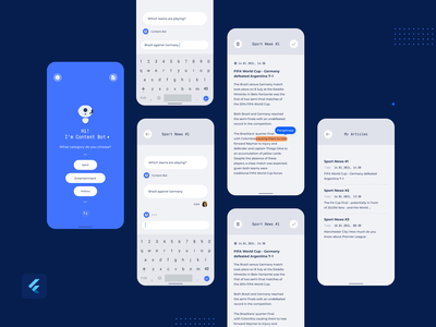 Content Bot - your personal writer machine learning material design google flutter content chatbot assistant ui app