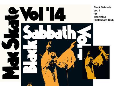 Black Sabbath Vol.4 for MacArthur Skate Club Vol. 14