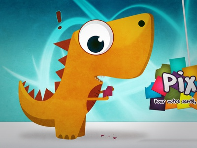 Pixo! dino dinosaur identity dragon hero mascott illustration cartoon character pixel